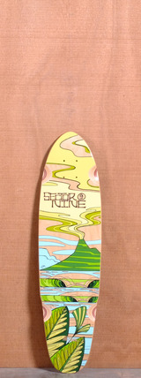 "Sector 9 31.5"" Lava Flow Longboard Deck - Yellow"