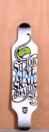 "Sector 9 40.5"" Mini Shaka Longboard Deck - White"