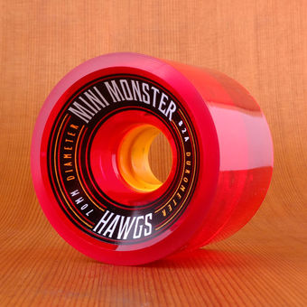Hawgs Mini Monster 70mm 82a Wheels - Clear Red