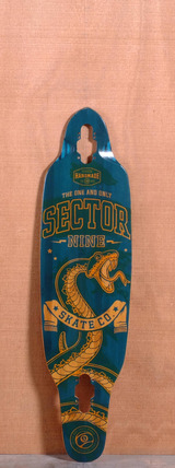 "Sector 9 36.5"" Striker Longboard Deck - Blue"