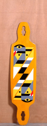 "GoldCoast 40"" Serpentagram Longboard Deck - Yellow"