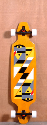 "GoldCoast 40"" Serpentagram Longboard Complete - Yellow"
