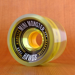 Hawgs Mini Monster 70mm 80a Wheels - Clear Green