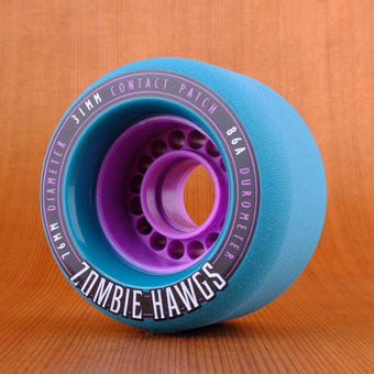 Hawgs Zombie 76mm 86a Wheels - Teal