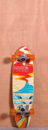 "Sector 9 31.5"" Lava Flow Longboard Complete - Red"