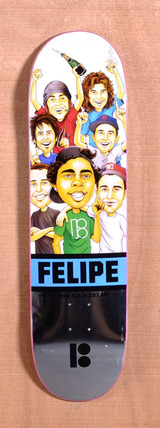 "Plan B Felipe MVP Welcome 8.25"" Skateboard Deck"