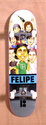 "Plan B Felipe MVP Welcome 8.25"" Skateboard Complete"