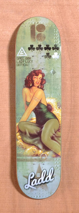 "Plan B Ladd Lady Luck 7.7"" Skateboard Deck"