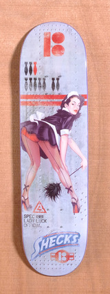 "Plan B Sheckler Lady Luck 8.2"" Skateboard Deck"