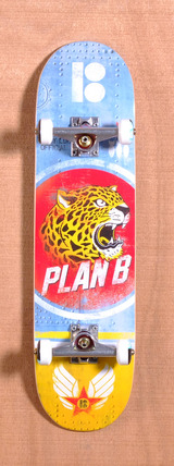"Plan B Cheetah Team Mini 7.7"" Skateboard Complete"