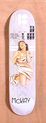 "Plan B McKay Lady Luck 7.8"" Skateboard Deck"