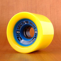 Sector 9 Dual Durometer 70mm 78a Wheels - Yellow