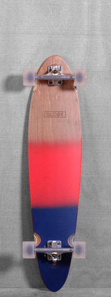 "Globe 40"" Pinner Longboard Complete - Red/Navy Spray"