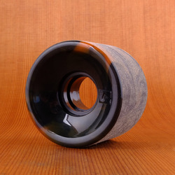 Globe Bantam Swirl 62mm 83a Wheels - Black/Orange