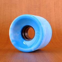Globe Bantam Swirl 62mm 83a Wheels - Blue/White