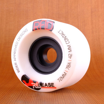 RAD Release 72mm 78a Wheels - White