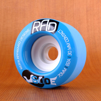 RAD Glide 70mm 82a Wheels - Blue