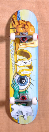 "Almost Daewon Art History Word Mark 7.9"" Skateboard Complete"