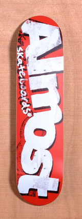 "Almost Word Mark Crusty 7.75"" Skateboard Deck - Red"