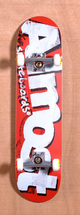 "Almost Word Mark Crusty 7.75"" Skateboard Complete - Red"