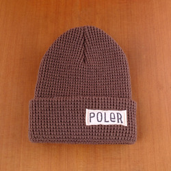 Poler Worker Man Beanie - Shale Brown