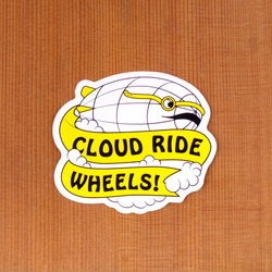 "Cloud Ride Blimp 3"" Sticker"