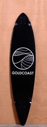 "GoldCoast 44"" Classic Floater Longboard Deck - Black"