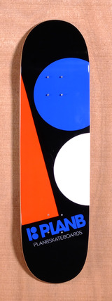 "Plan B Team Massive 8.3"" Skateboard Deck - Black/Orange"