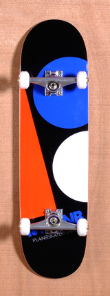 "Plan B Team Massive 8.3"" Skateboard Complete - Black/Orange"