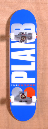 "Plan B Team OG 7.6"" Skateboard Complete - Blue"
