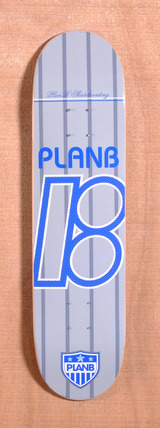 "Plan B Team United 7.7"" Skateboard Deck - Grey"