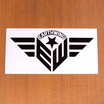 "Earthwing Crest 6"" Sticker - Clear"
