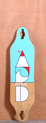 "Madrid 37.875"" Cut Longboard Deck - Bamboo"
