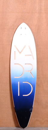 "Madrid 40"" Paperlogo Hickey Longboard Deck"