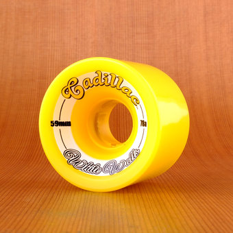 Cadillac White Walls 59mm 78a Wheels - Yellow