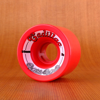 Cadillac White Walls 59mm 78a Wheels - Red