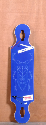 "Madrid 39"" Bugs Longboard Deck - Drop Through"