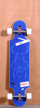 "Madrid 39"" Bugs Longboard Complete - Drop Through"