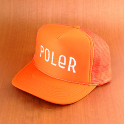 Poler Furry Font Trucker Hat - Burnt Orange