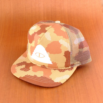 Poler Cyclops Mesh Trucker Hat - Tan Camo