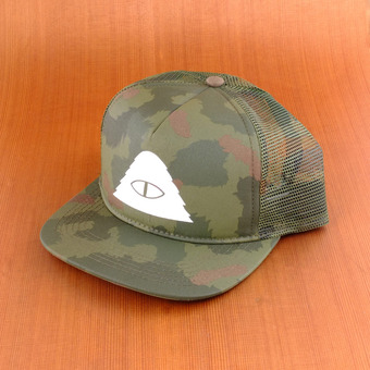 Poler Cyclops Mesh Trucker Hat - Green Camo