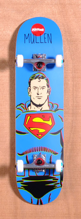 "Almost Mullen Superman DC Comics 8.1"" Skateboard Complete"