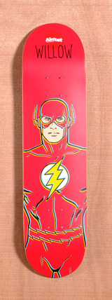 "Almost Willow The Flash DC Comics 7.75"" Skateboard Deck"