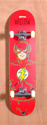 "Almost Willow The Flash DC Comics 7.75"" Skateboard Complete"