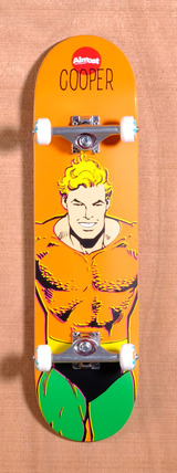 "Almost Wilt Aquaman DC Comics 8.0"" Skateboard Complete"