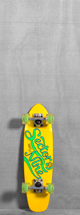 "Sector 9 25"" The Steady Glow Wheels Longboard Complete - Yellow"