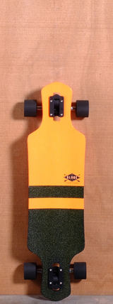 "Globe 35"" Geminon Longboard Complete - Orange/Black"