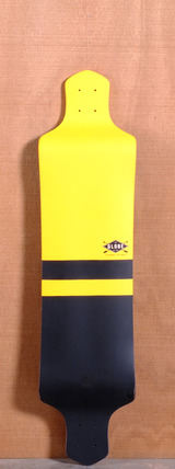 "Globe 41"" Geminon Drop Down Longboard Deck - Yellow/Black"