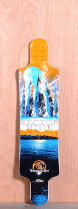 Sector 9 39.5 Faultline Longboard Deck - Orange