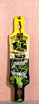"Sector 9 41.8"" Dropper Longboard Deck - Green"